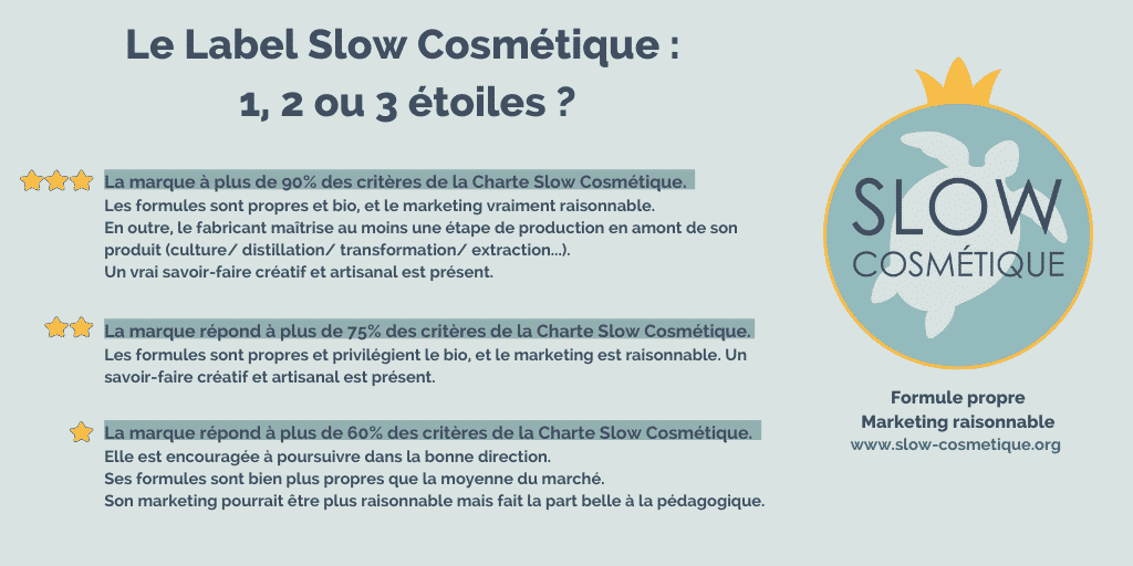 La Mention Slow Cosmetique Etoiles 2019